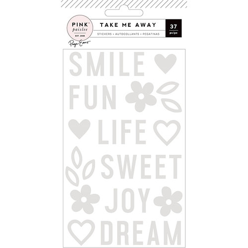 Pink Paislee - Take Me Away Collection - Mirror Stickers