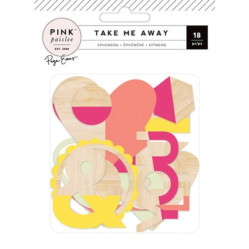 Pink Paislee - Take Me Away Collection - Wood Veneer Shapes