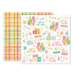 Pink Paislee - Birthday Bash Collection - 12 x 12 Double Sided Paper - Paper 01