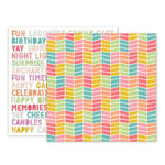 Pink Paislee - Birthday Bash Collection - 12 x 12 Double Sided Paper - Paper 04