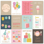 Pink Paislee - Birthday Bash Collection - 12 x 12 Paper with Foil Accents