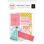 Pink Paislee - Birthday Bash Collection - Ephemera with Foil Accents