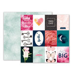 Pink Paislee - Moonstruck Collection - 12 x 12 Double Sided Paper - Paper 01