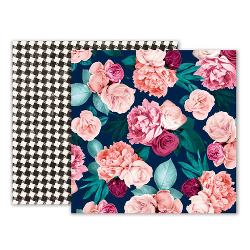 Pink Paislee - Moonstruck Collection - 12 x 12 Double Sided Paper - Paper 02