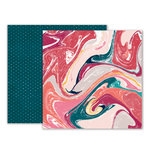 Pink Paislee - Moonstruck Collection - 12 x 12 Double Sided Paper - Paper 04