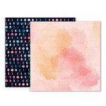Pink Paislee - Moonstruck Collection - 12 x 12 Double Sided Paper - Paper 11