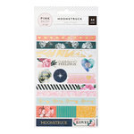 Pink Paislee - Moonstruck Collection - Washi Shapes with Foil Accents