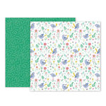 Pink Paislee - Oh My Heart Collection - 12 x 12 Double Sided Paper - Paper 03