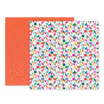Pink Paislee - Oh My Heart Collection - 12 x 12 Double Sided Paper - Paper 05