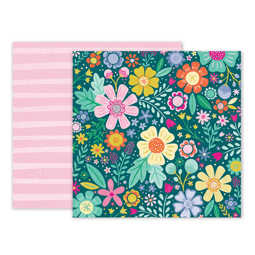 Pink Paislee - Oh My Heart Collection - 12 x 12 Double Sided Paper - Paper 06