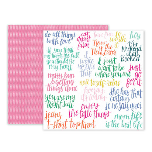 Pink Paislee - Oh My Heart Collection - 12 x 12 Double Sided Paper - Paper 09