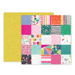 Pink Paislee - Oh My Heart Collection - 12 x 12 Double Sided Paper - Paper 10