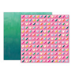 Pink Paislee - Oh My Heart Collection - 12 x 12 Double Sided Paper - Paper 11
