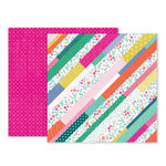 Pink Paislee - Oh My Heart Collection - 12 x 12 Double Sided Paper - Paper 12