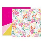 Pink Paislee - Oh My Heart Collection - 12 x 12 Double Sided Paper - Paper 13