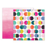 Pink Paislee - Oh My Heart Collection - 12 x 12 Double Sided Paper - Paper 14
