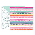 Pink Paislee - Oh My Heart Collection - 12 x 12 Double Sided Paper - Paper 17