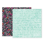 Pink Paislee - Oh My Heart Collection - 12 x 12 Double Sided Paper - Paper 18