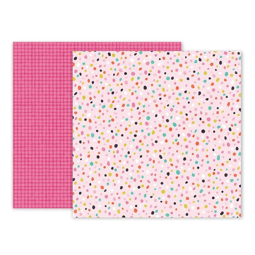 Pink Paislee - Oh My Heart Collection - 12 x 12 Double Sided Paper - Paper 19
