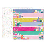 Pink Paislee - Oh My Heart Collection - 12 x 12 Double Sided Paper - Paper 21