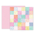 Pink Paislee - Oh My Heart Collection - 12 x 12 Double Sided Paper - Paper 24