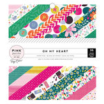 Pink Paislee - Oh My Heart Collection - 6 x 6 Paper Pad