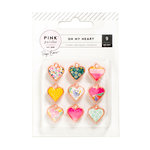 Pink Paislee - Oh My Heart Collection - Charms - Rose Gold - Metal and Resin