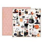 Pink Paislee - Spellcast Collection - Halloween - 12 x 12 Double Sided Paper - Paper 11