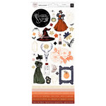 Pink Paislee - Spellcast Collection - Halloween - Cardstock Stickers with Foil Accents