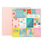Pink Paislee - Turn The Page Collection - 12 x 12 Double Sided Paper - Paper 1