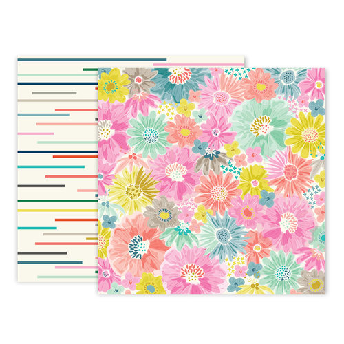 Pink Paislee - Turn The Page Collection - 12 x 12 Double Sided Paper - Paper 2