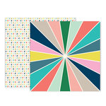 Pink Paislee - Turn The Page Collection - 12 x 12 Double Sided Paper - Paper 3