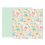 Pink Paislee - Turn The Page Collection - 12 x 12 Double Sided Paper - Paper 4