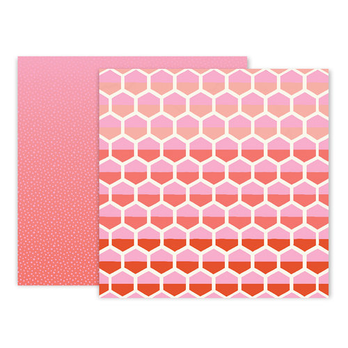Pink Paislee - Turn The Page Collection - 12 x 12 Double Sided Paper - Paper 8