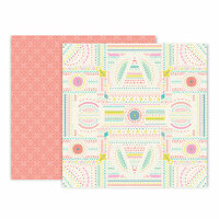 Pink Paislee - Turn The Page Collection - 12 x 12 Double Sided Paper - Paper 10