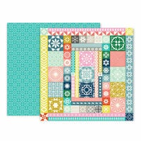Pink Paislee - Turn The Page Collection - 12 x 12 Double Sided Paper - Paper 13