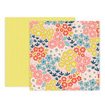 Pink Paislee - Turn The Page Collection - 12 x 12 Double Sided Paper - Paper 15