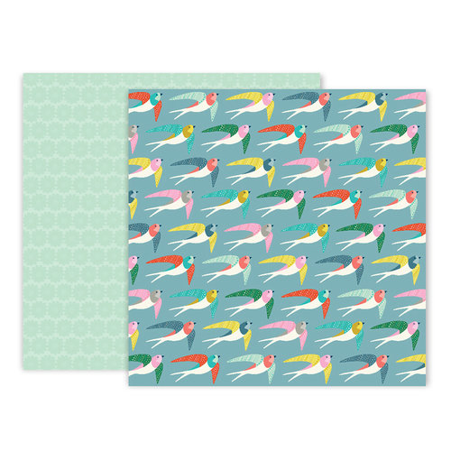 Pink Paislee - Turn The Page Collection - 12 x 12 Double Sided Paper - Paper 16