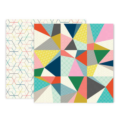 Pink Paislee - Turn The Page Collection - 12 x 12 Double Sided Paper - Paper 20