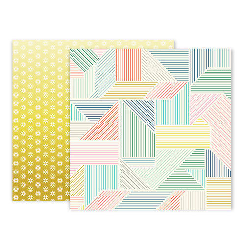 Pink Paislee - Turn The Page Collection - 12 x 12 Double Sided Paper - Paper 23