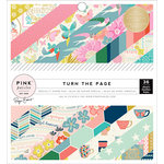 Pink Paislee - Turn The Page Collection - 6 x 6 Paper Pad with Foil Accents