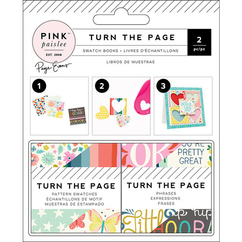 Pink Paislee - Turn The Page Collection - 2 x 2 Paper Pad - Swatch Book