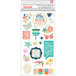 Pink Paislee - Turn The Page Collection - Thickers - Chipboard - Foil - Icons