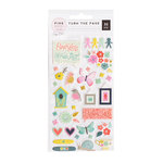 Pink Paislee - Turn The Page Collection - Puffy Stickers