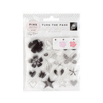 Pink Paislee - Turn The Page Collection - Clear Acrylic Stamps