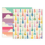 Pink Paislee - Wild Child Collection - 12 x 12 Double Sided Paper - Paper 6