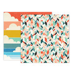 Pink Paislee - Wild Child Collection - 12 x 12 Double Sided Paper - Paper 8