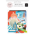 Pink Paislee - Wild Child Collection - Ephemera with Foil Accents - Boy