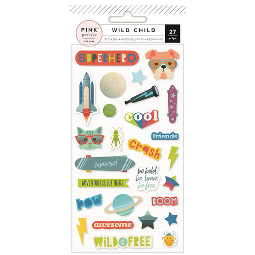 Pink Paislee - Wild Child Collection - Puffy Stickers - Boy
