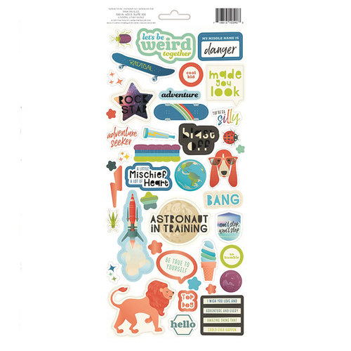 Pink Paislee - Wild Child Collection - Cardstock Stickers with Foil Accents - Boy